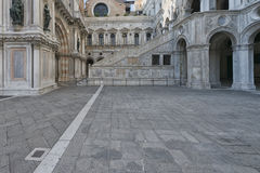 Venice Ducal Palace. Interior marble staircase view Royalty Free Stock Image