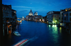 Venice at dusk. The most beautiful town in the world, canal grande royalty free stock images