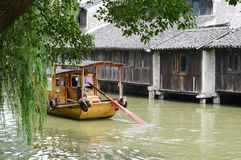 Venice of the East. The Venice of the East Wuzhen China has a history of 1000 years the last pillow water people photoed in july 2013 Stock Photography