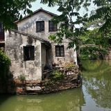 Venice of the East - Zhouzhuang water town in China. Pictoresque house in the bank of the stream in the Zhouzhuang water town Stock Image