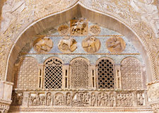 Venice - Exterior reliefs from portal of st. Mark cathedral with the four evangelists symbols. Royalty Free Stock Photo