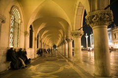 Venice - external corridor of Doge palace Stock Photos