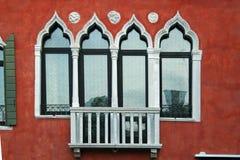 venice fönster Arkivbilder