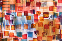 Venice Fabric. Colorful modern fabric on display in Venice royalty free stock photography