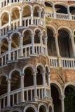 Venice famous architecture landmark  Palazzo Contarini del Bovol Royalty Free Stock Photo