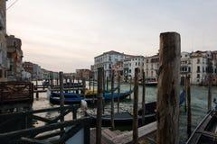 Venice with famous gondolas royalty free stock image