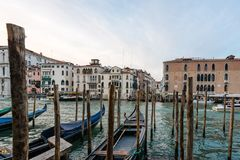 Venice with famous gondolas royalty free stock images