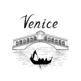 Venice famous place view Travel Italy background. City bridge. Royalty Free Stock Image