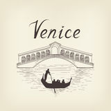 Venice famous place view Travel Italy background. City bridge. Stock Photos