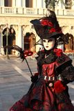 Person in Venetian costume Royalty Free Stock Photos