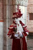Person in Venetian costume Royalty Free Stock Images