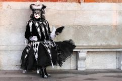 Person in Venetian costume Stock Images