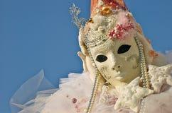 Venetian costume attends Carnival of Venice. Stock Image