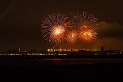 Venice fireworks Royalty Free Stock Photography