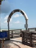 Venice Fishing Pier Sign. Florida royalty free stock photography