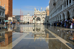 Venice Flooded Royalty Free Stock Photography