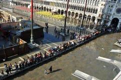 Venice flooded Stock Photography