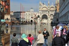 Venice floods Stock Image
