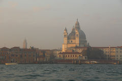 The Venice in fog Stock Photography