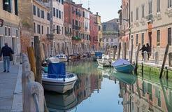 Venice - Fondameneta delle Eremite street and canal Rio delle Eremite Royalty Free Stock Images