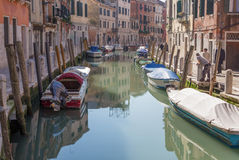 Venice - Fondameneta delle Eremite street and canal Rio delle Eremite Royalty Free Stock Photography