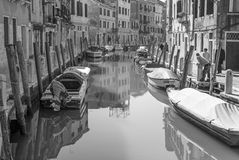 Venice - Fondameneta delle Eremite street and canal Rio delle Eremite Royalty Free Stock Photo