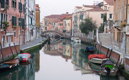 Venice - Fondamenta Briati and canal Royalty Free Stock Photo