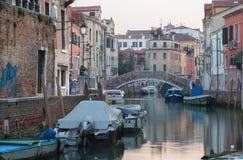 Venice - Fondamenta de la Pescaria and canal Stock Photo