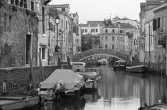 Venice - Fondamenta de la Pescaria and canal Stock Photography