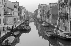 Venice - Fondamenta de la Sensa and canal in morning from Ponte de la Malvasia Stock Photography