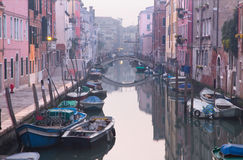Venice - Fondamenta de la Sensa and canal in morning Stock Image