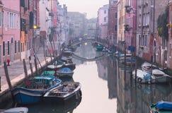 Venice - Fondamenta de la Sensa and canal in morning Stock Image