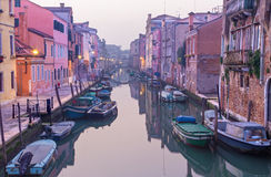 Venice - Fondamenta de la Sensa and canal in morning Royalty Free Stock Photography