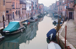 Venice - Fondamenta dei Riformati street and canal Royalty Free Stock Photography