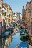 Venice - Fondamenta Giardini street and canal Royalty Free Stock Photo