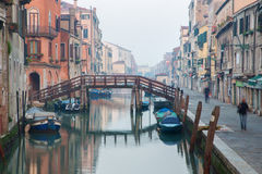 Venice - Fondamenta San Alvise street and canal in morning Royalty Free Stock Photography