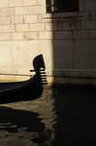 Venice. This is the front of a gondola in one of the canals in Venice Stock Photo