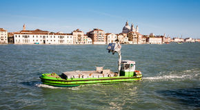 Venice garbage collection Royalty Free Stock Photo