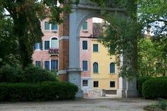 The Venice Giardini. Entrance to The Giardini Park in Venice, Italy. The Venice Giardini host Venice Biennale Art Festival Royalty Free Stock Image
