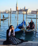Venice girl Stock Images
