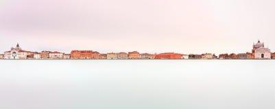 Venice, Giudecca Canal. Long Exposure Italy Stock Image