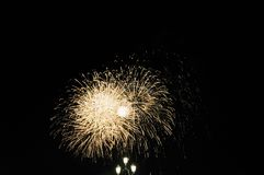 Venice. Golden fireworks. royalty free stock photos