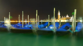 Venice gondloa in the evening Royalty Free Stock Photography