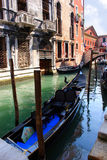 Venice gondola #1. Venice gondola on canal #1 Stock Photo