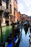 Venice gondola #2. Venice gondola on canal #2 Royalty Free Stock Photography
