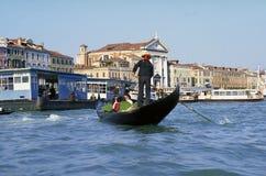Venice Gondola. And gondolier Royalty Free Stock Photos