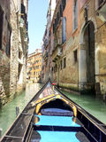 Venice in Gondola. Ride in a gondola in Venice canal, Italy Royalty Free Stock Photos