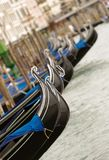 Venice gondola. Closeup of gondolas near Piazza San Marco in Venice, Italy Stock Photos