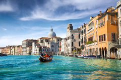 Venice. Gondola in the canal of venice Royalty Free Stock Photography