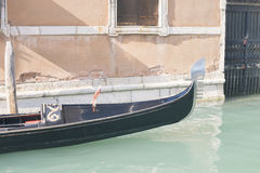 Venice gondola channel Royalty Free Stock Images